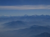 andes from the sky - peru